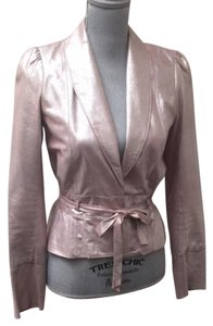 Twelfth St. by Cynthia Vincent Pink Leather Jacket
