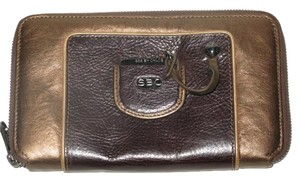 See by Chloé Medium Zip Leather Wallet With SBC Medallion