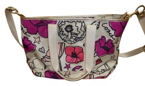 Coach Poppy Floral Pink Beige Shoulder Bag