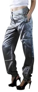 Chico's Cargo Pants Silver Grey
