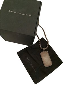 David Yurman David Yurman Titanium Dog Tag Necklace