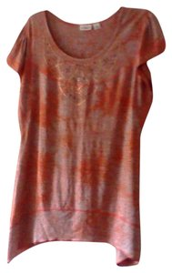 Cato Top Orange and tan