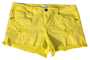 Forever 21 Cut Off Shorts Yellow