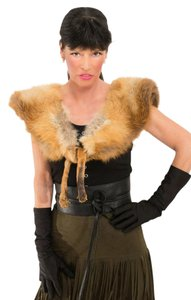 Saga Furs LOVELY GOLDEN ISLAND RED FOX COLLAR Collar Cape Wrap Stole with Fox Legs