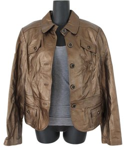 Cache Gold Leather Jacket