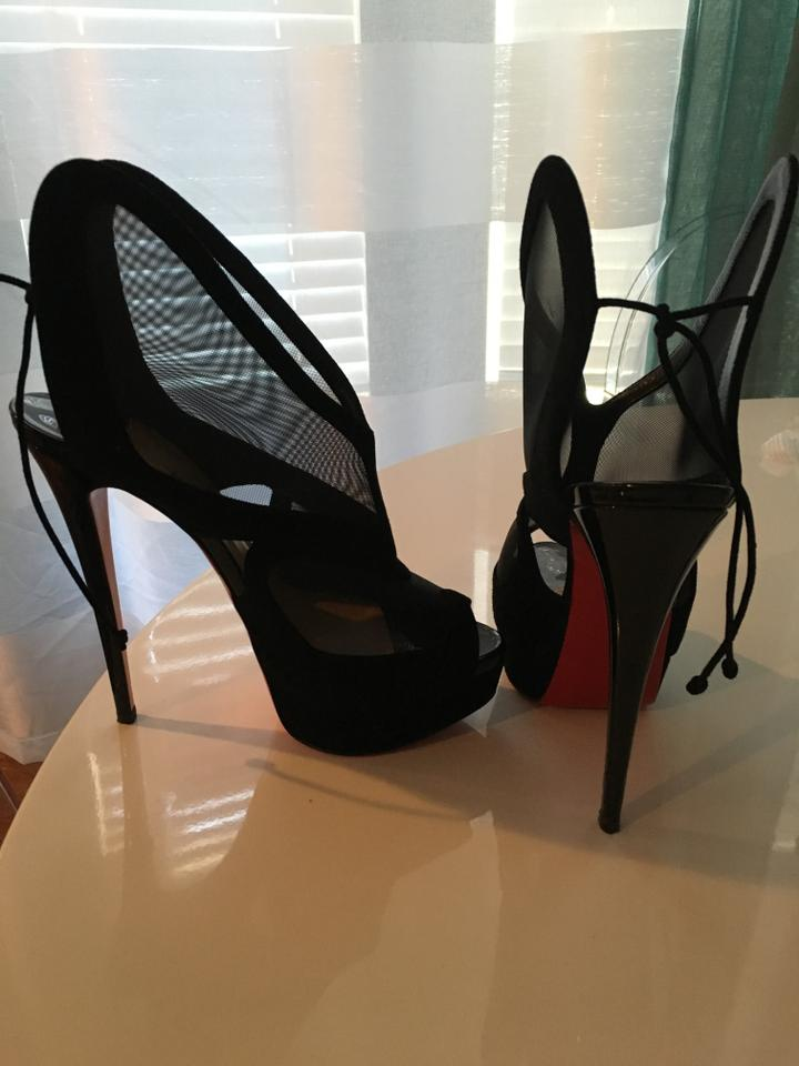where to buy christian louboutin shoes - Christian Louboutin Farms Mesh 150 Mm Suede And Patent Leather ...