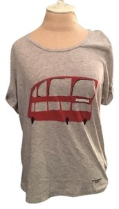 Burberry Brit Cotton T Shirt Gray