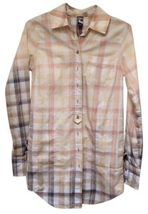 Free People Button Down Longsleeve Ombre Cotton Tunic