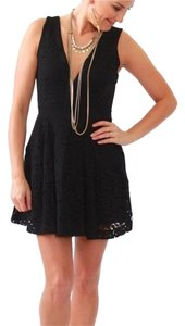 Free People Lace Sleeveless Pleated Pockets Fully Lined Dress