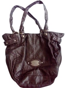 Liz Claiborne Metallic Hardware Tote in Black
