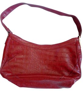 Liz & Co. Metallic Hardware Tote in Red