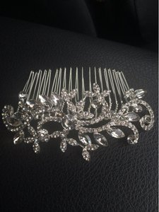 9.2.5 Crystal Vine Leaf Bridal Hair Comb Jewelry Hair Piece Rhinestone Clear Diamond Cz Bridesmaids Prom Jewelry