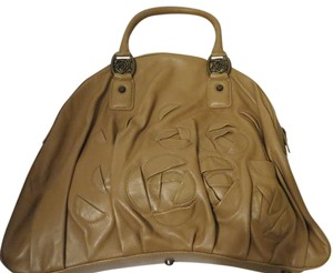 Taryn Rose Leather Beige Shoulder Bag