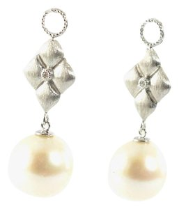Jude Frances JUDE FRANCES 18k White Gold Diamond Pearl Dangle Drop Earring Charms