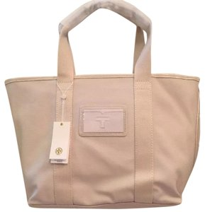 Tory Burch Canvas Casual Tote in New Ivory