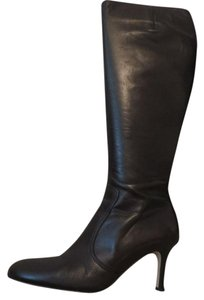 Isaac Mizrahi Inside Zipper Brown Boots
