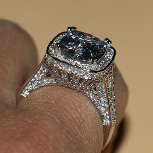 Size 4 5 6 7 8 9 4.5 5.5 6.5 7.5 8.5 9.5 8 Carat Nscd Sona Certified Lab Huge Diamond Ring Vintage Wedding Engagement
