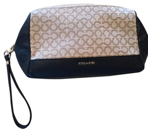Coach Wristlet in Tan & Black