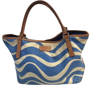 Kate Spade Tote in Ivory/blue