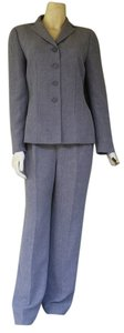 Le Suit Collection for LE SUIT Gray Pantsuit Pants Suit Career 6