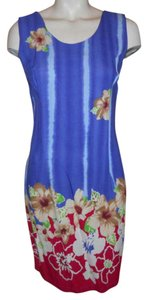 Jams World short dress blue & red multi on Tradesy