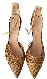 Casadei Pointed-toe woven-leather Sandals