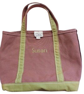 L.L.Bean Monogrammed Usa Tote in Brown Green