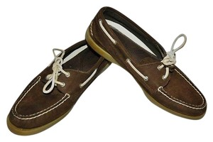 Sperry Top Sider Topsiders Boat Deck Size 9 Brown Flats