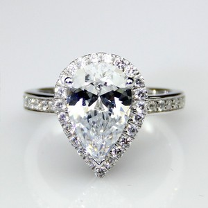 All Sizes Vvs1 2ct Cushion Cut Diamond Engagement Ring Pt950 3ct Nscd Sona Simulated Diamond Engagement Pear 4.5 5 5.5 6