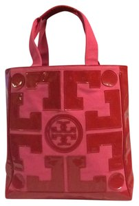 Tory Burch Pink And Red Beach Bag