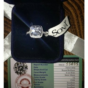 All Sizes Vvs1 3ct Cushion Cut 4 5 6 7 8 Enagement Sona Nscd Diamond Proposal Cushion Square Engagement Ring Pt950 4.5 5