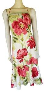 Ann Taylor short dress Multi-color Floral Halter Silk Tea on Tradesy
