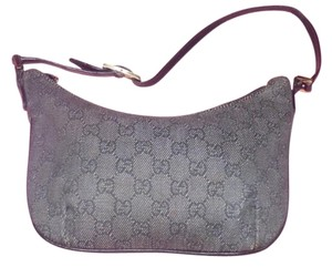 Gucci Silver Hardware Canvas Hobo Bag