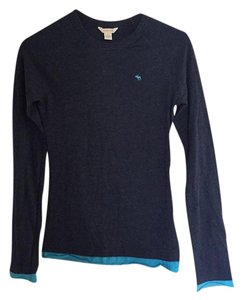 Abercrombie & Fitch Longsleeve Layers Comfortable T Shirt Blue