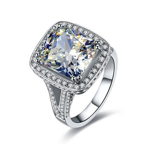 Certified 8ct Vvs1 Huge Diamond Luxury All Size 4.5 5 6 7 8 9 Vintage Engagement Ring