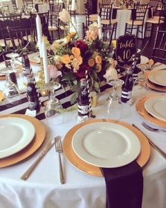 Kate Spade Black and White Table Runners & Centerpiece