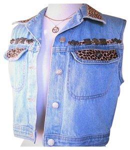 Streets Ahead Denim Animal Print Vest