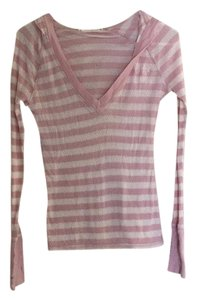 Roxy Layering Strips Hooded Thumb Holes Longsleeve Sweater