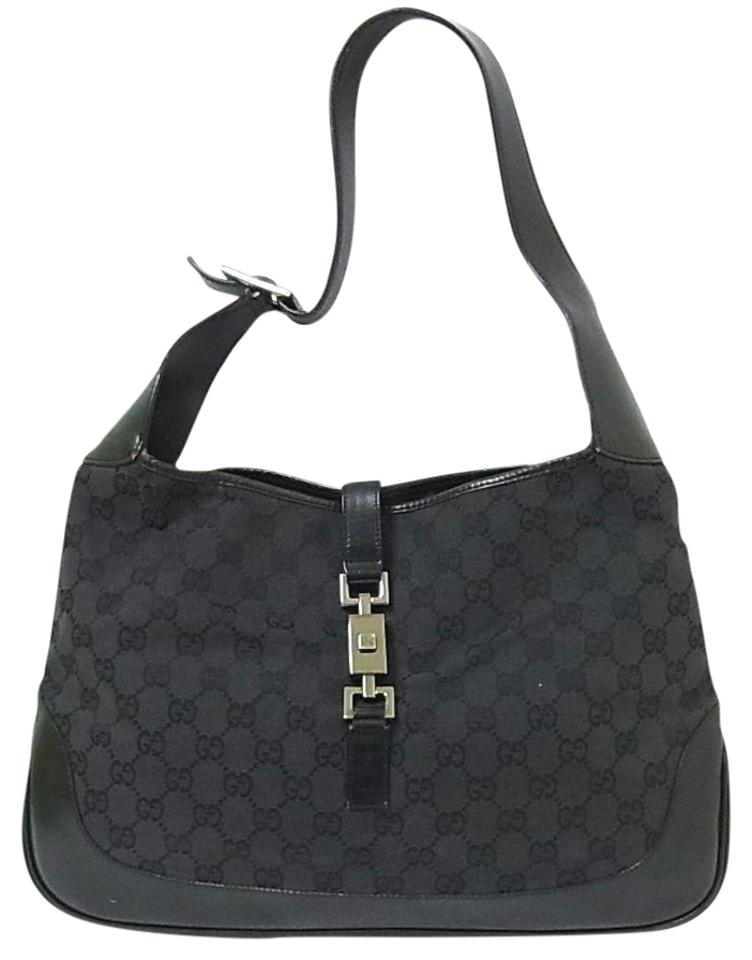 931003a9a81 Gucci Large Logo Jackie O Chrome Hardware Excellent Vintage Dressy Or  Casual Hobo Bag Image 0 ...
