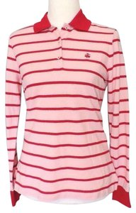 Brooks Brothers Polo Shirt Button Down Shirt Pink Red