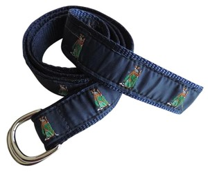 Leatherman Leatherman Ltd Blue D Ring Belt Golf Embroidered Belt Size Medium Unisex 41