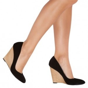 ShoeDazzle Black Wedges