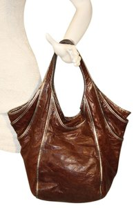 Kooba Leather Classic Tote in Brown