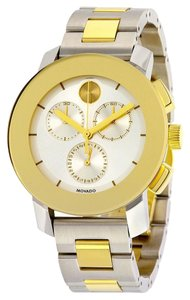 Movado Two Tone Silver and Gold tone Stainless Steel Movado Unisex Watch