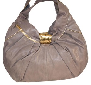 Kooba Leather Gold Hobo Bag