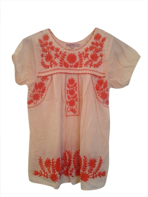 Calypso St. Barth Embroidered Top Beige