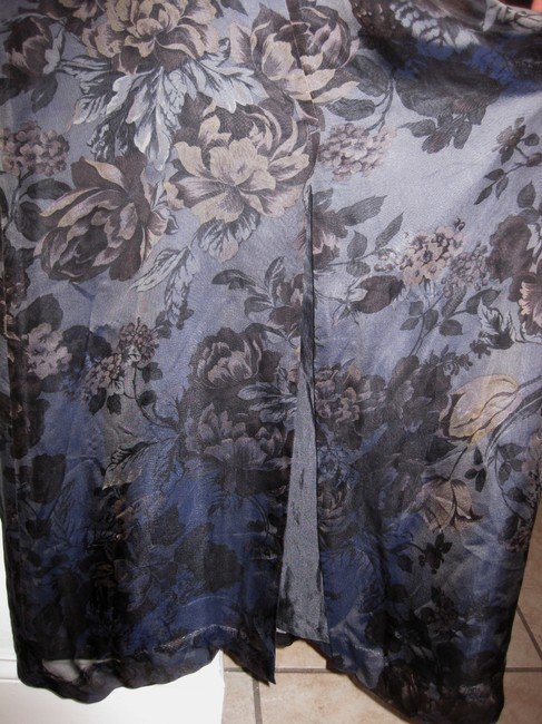 Banana Republic Br 1990s Vintage Silk Formal Wedding Evening Wear Floral Sophisticated Dress