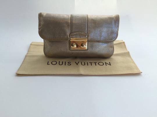 Louis Vuitton Sofia Coppola Lambskin Leather Gold Clutch
