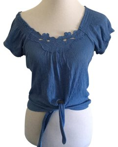 Derek Heart Top Pewter blue