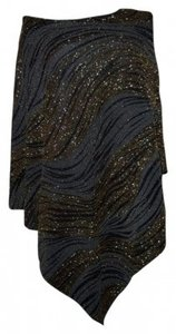 Chico's Top Black and Gold Shimmer
